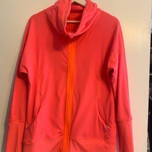 LuluLemon coral funnel neck zip up jacket 8